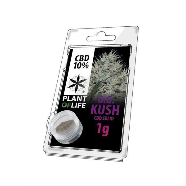 Résine 10% CBD de OG Kush – Plant of Life® (Boite de 10pcs)