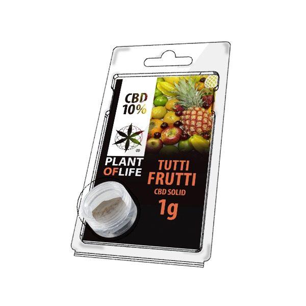Résine 10% CBD de Tutti Frutti – Plant of Life® (Boite de 10pcs)