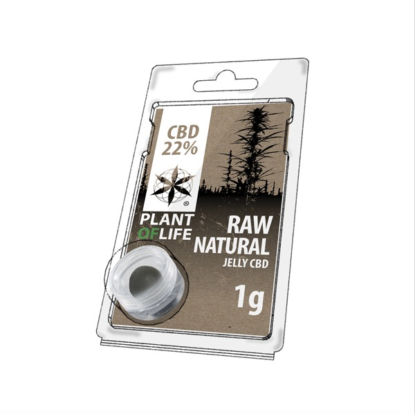 Résine 22% CBD de Raw Natural – Plant of Life® (Boite de 10pcs)