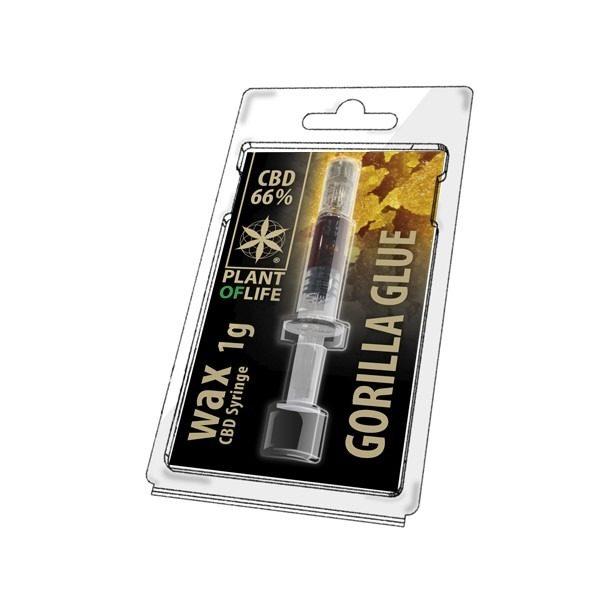 Wax 66% CBD de Gorilla Glue – Plant of Life® (Boite de 10pcs)