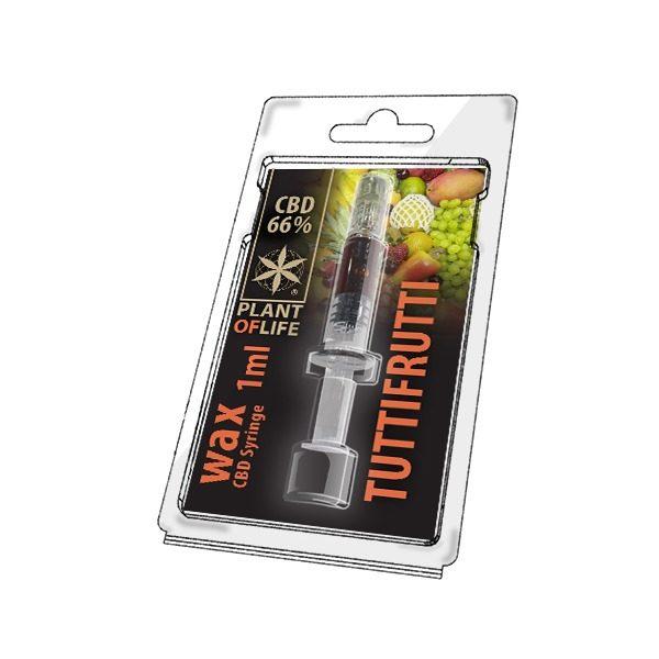 Wax 66% CBD de Tutti Frutti – Plant of Life® (Boite de 10pcs)